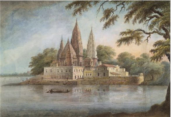 Sita Ram, The Adi Keshava and Sangameshvara temples at Rajghat, the junction of the River Barna (Varuna) with the Ganges, 1814–15..